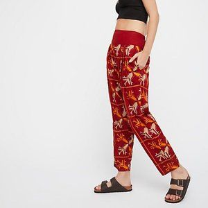 Free People Blitz Embroidered Harem Pants